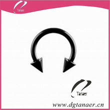 staininless steel body piercing jewelry horseshoe