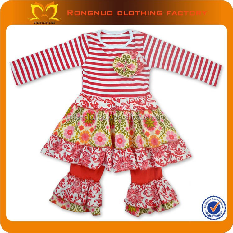 Kids Girl Winter Boutique Outfits Wholesale Name Brand Baby Clothes Set Newborn baby Clothes