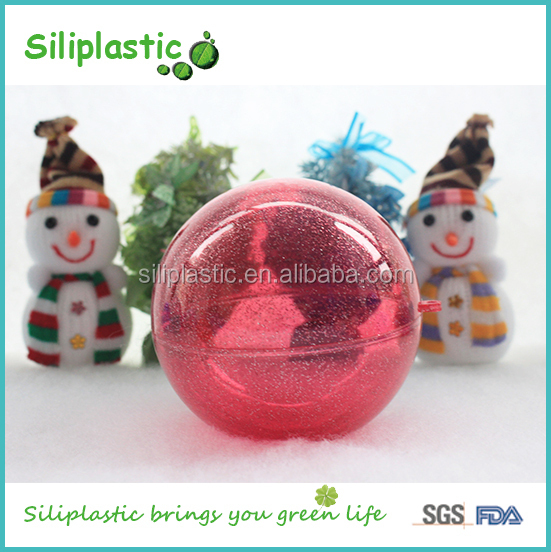 Decorating ornaments red large plastic christmas ball