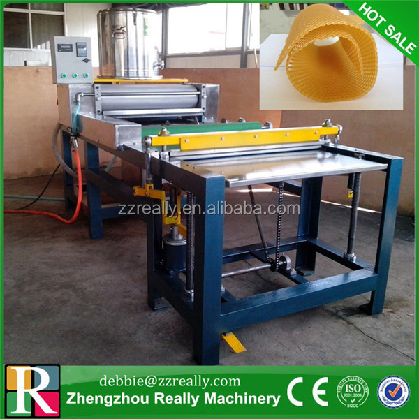 bees wax foundation sheet mold casting machine with fixed hinge joint lid beeswax