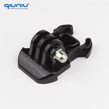 QIUNIU High Quality Helmet Accessories Mount Basic Adapter Buckle for Go Pro Hero 3+/3/4 SJ4000/5000/6000