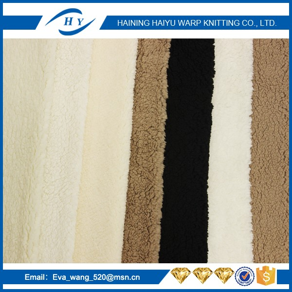 china supplier fleece fabric polyester sherpa faux fur fabric