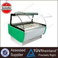 CE Approval Stainless Steel Used Small Mini ice cream display freezer