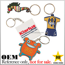 advertising gifts cheap brand logo custom rubber soft pvc keyrings