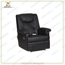 WorkWell most popular pu leather luxury recliner massage sofa Kw-Fu31