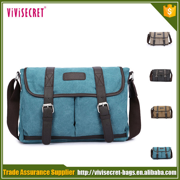 China stock wholesale men shoulder canvas bags with good quality