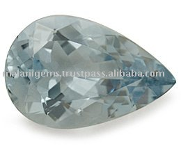 Soft Blue Aquamarine Pear Cut Loose Gemstone
