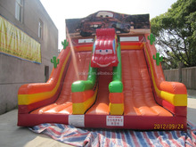 2016 promotion sale cartoon inflatable slide with pool for manufacture