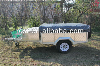 Aluminum decorated galvanzied camper trailer RC-CPT-08X