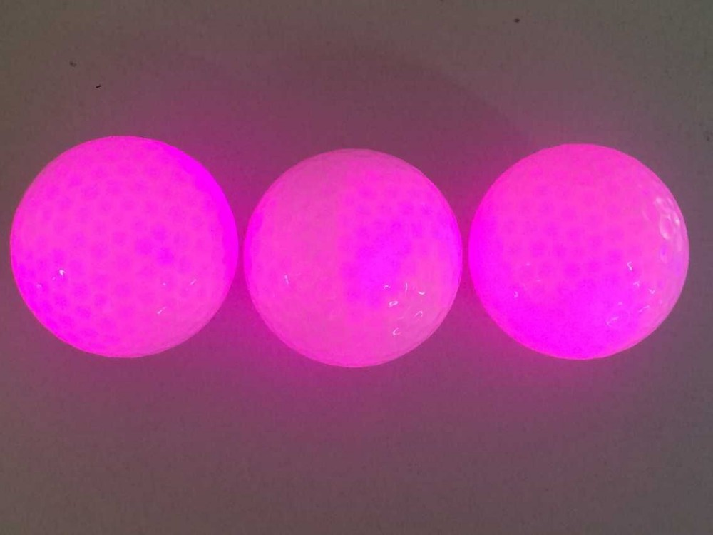 Customized 2 Piece LED Golf Ball for Night Practice