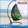 Indoor outdoor Rattan hanging bed for garden