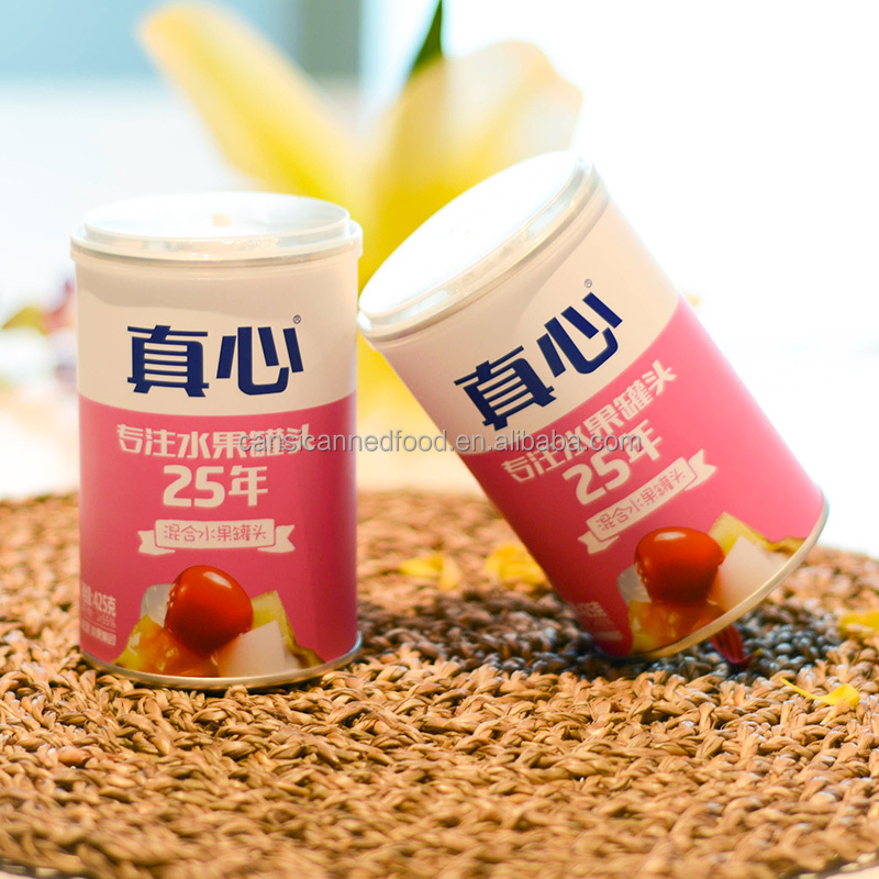 Zhenxin Canned Tropical Mixed Fruits Cocktail in 425g tin cans