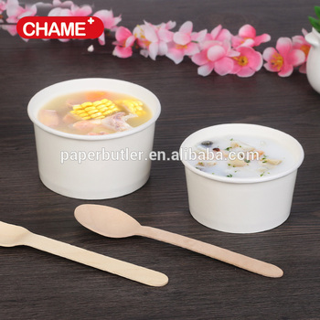 Round Kraft Soup Container Bucket with Paper Vented Lid