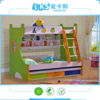 Guangdong factory Direct selling kids bunk bed 3 layers