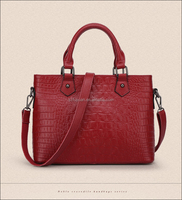 2016 OEM small MOQ fashion unique shape crocodile ladies' handbag with short handle