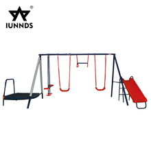 Hot sale indian outdoor kids metal stand plastic swing seats sets