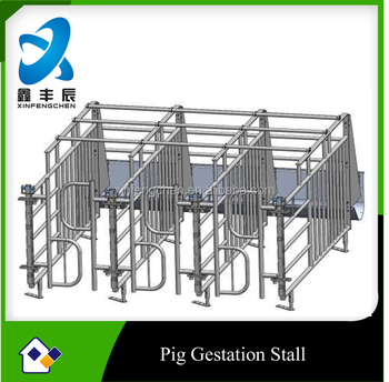 Galvanized pig farming equipment --- Gestation stall for pig