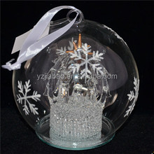 New design hanging christmas decoration glass ball light