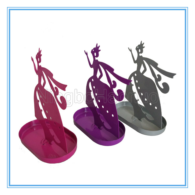 Metal Fairy Shaped Jewelry Standing Case
