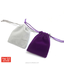 Hot sale blank colorful small gift pouch promotional custom velvet gift bag