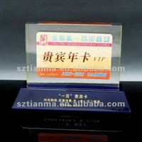 Antique customized stand-up sign card holders