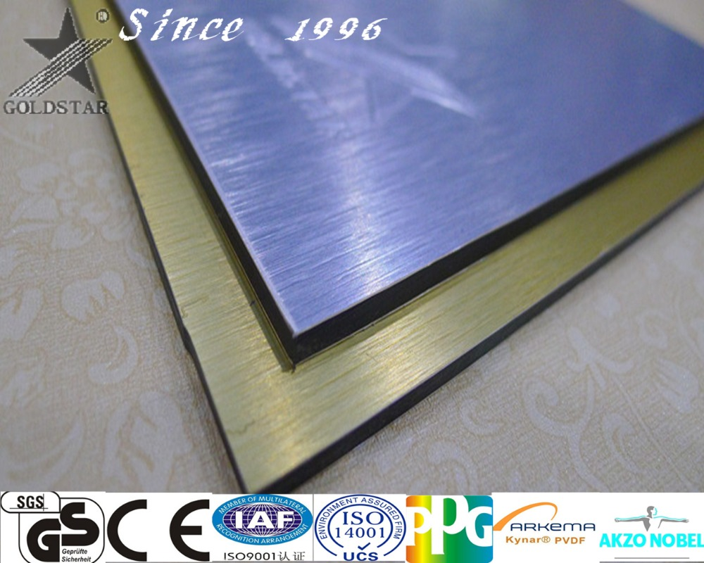 Foshan building material curtain wall decoration brushed Aluminum composite panel