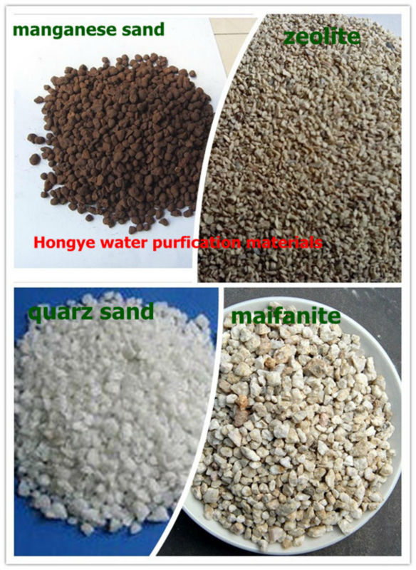 The best conbination of water treatment materials/ Manganese sand/Quartz sand/Medical stone/zeolite/expertise in water treatment