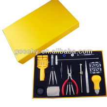 perfect 20 IN 1 wrist watch making kit watch repair tool kit with yellow box watch tool for sale