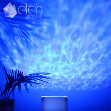 Factory Price Blue Ocean Wave Mini Projector Led Night Light with Music Player