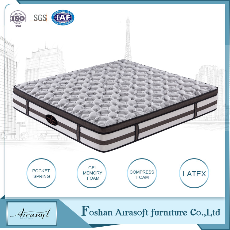Comfortable super soft foam pocket spring best latex spring mattress