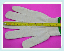 2014 new machine automatic knitting cotton yarn white hand glove with pvc dots from gloves