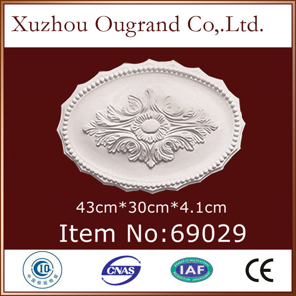 Small Pu Plaster Oval Ceiling Medallions For Home Decoration