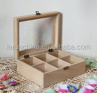 Dark color small unfinished wooden boxes wholesale with glass