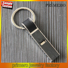 Cute Metal Whistle Key Chain Creative Trinket Novelty Items Charm Keyring