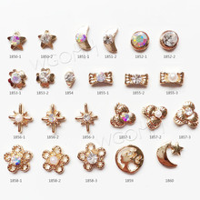 New Korean alloy nail art 3d crystal rhinestone decorations for nails
