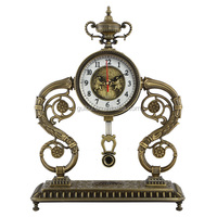 European Style Antique Metal Table Clock,Decorative Clock