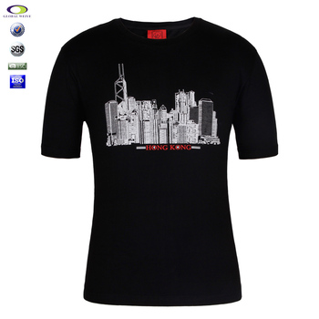 Black 100 cotton mens t shirts with city names printing for T shirts with city names