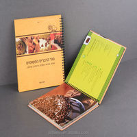 hard paper card cover spiral notebook