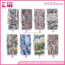 For iPhone6 Realistic Tree Pattern 2 Card Slot Wallet Style Flip Leather Case For iPhone5 6 6p