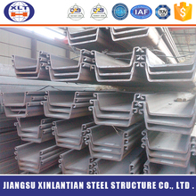 Hot rolled u type steel sheet pile galvanized steel sheet pile