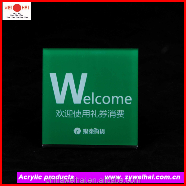 Color Welcome Acrylic Plate