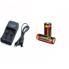 TrustFire KIT Charger TR-006 + 2pcs Rechargeable Lithium TF 26650 5000MAH batteries with protection 3.7V
