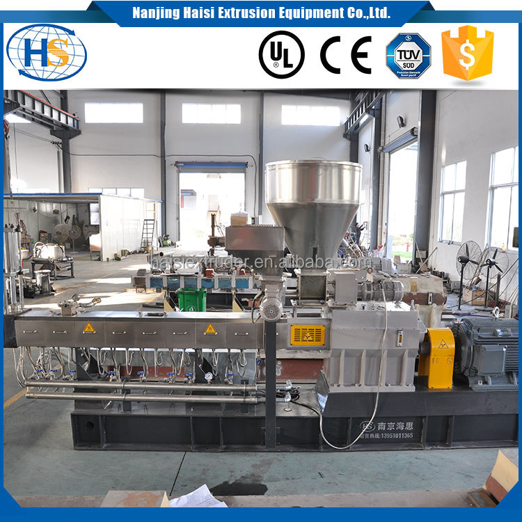co-rotating washing line raw material granulator pelletizer pp pe pa eva wood wpc recycling screw plastic extruder