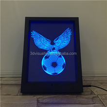 football light Indoor led light 3D Table Lamps for holiday gift