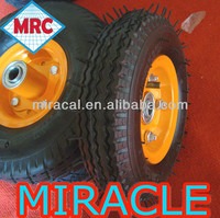 Made in China Small Rubber pneumatic wheel 6x2