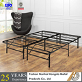 Metal Bed Double Slatted Frame Bedstead queen bed frame