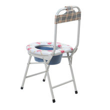 Cheap price elderly commode folding lightweight commode chair
