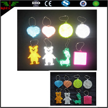 high bright visible reflective backpack reflectors pink / glow acrylic hanger reflector