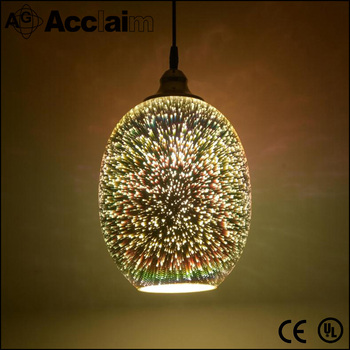 Professional China factory manufacture 3D glass pendant light for home