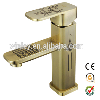 High Quality Antique Brass Single Lever Bronze Basin Faucet WF20061